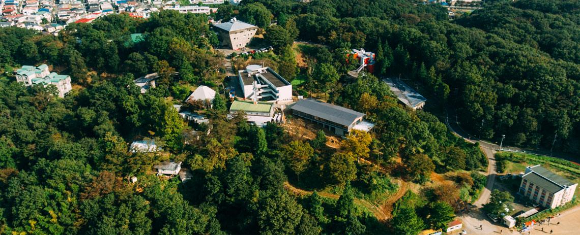 大学セミナーハウス敷地全景