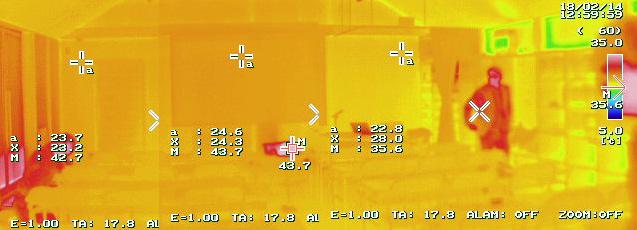 温度むらの少ない温熱環境(セミナー当日サーモカメラにて撮影)
