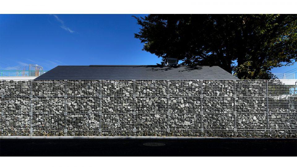 フトンカゴを使った外壁(撮影:susumu KOSHIMIZU)