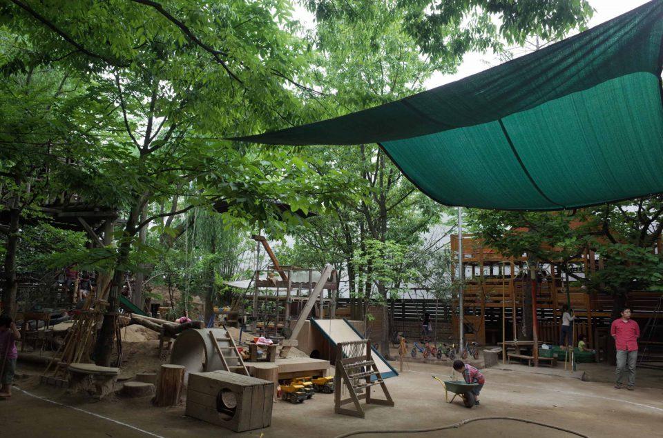 川和保育園園庭