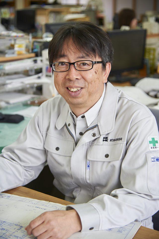 「針谷眼科」の医院の設計を担当した亀倉治さん(小林建設 設計部・一級建築士)